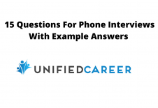 Image for post 15 Questions For Phone Interviews With Example Answers – Unified Career