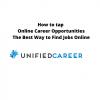 How to tap Online Career Opportunities The Best Way to Find Jobs Online