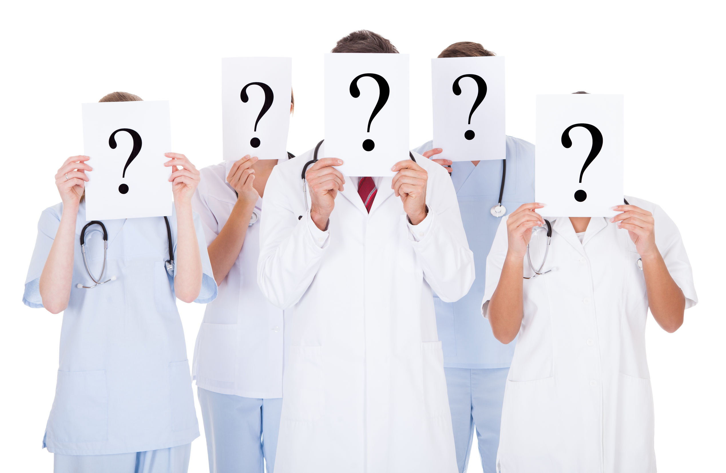 doctors-with-question-marks-for-faces